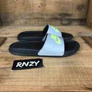 Nike Benassi Gray Volt Slide Sandals